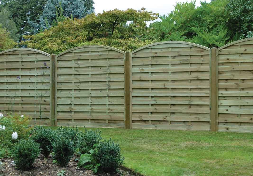 Arched Horizontal European Panels Fencing