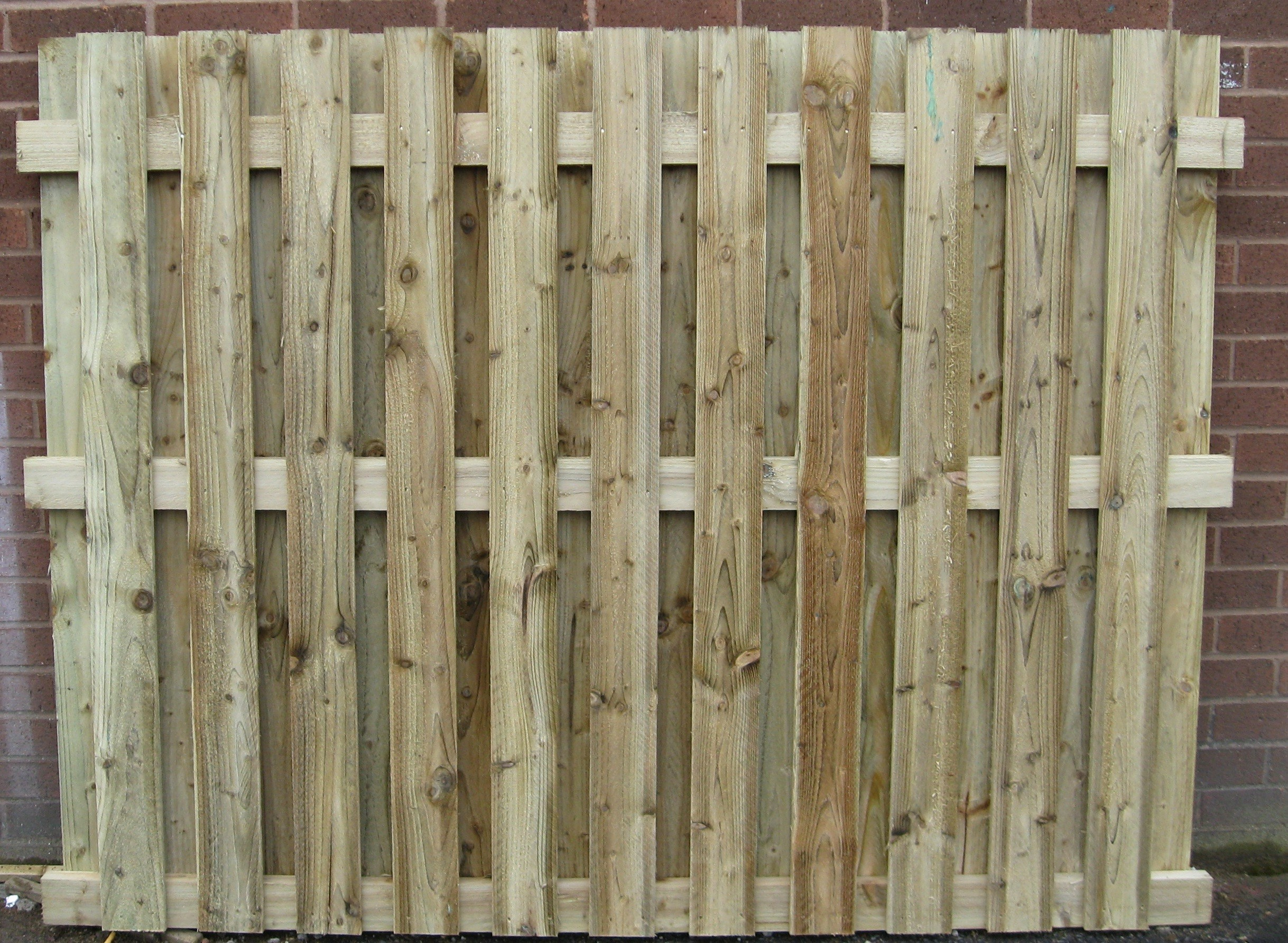 Double Paling 2 Gap 50mm Paling Panels Fencing