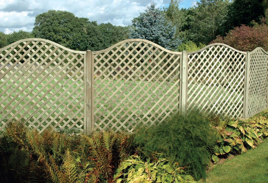 Omega lattice european panels fencing for Lattice screen fence