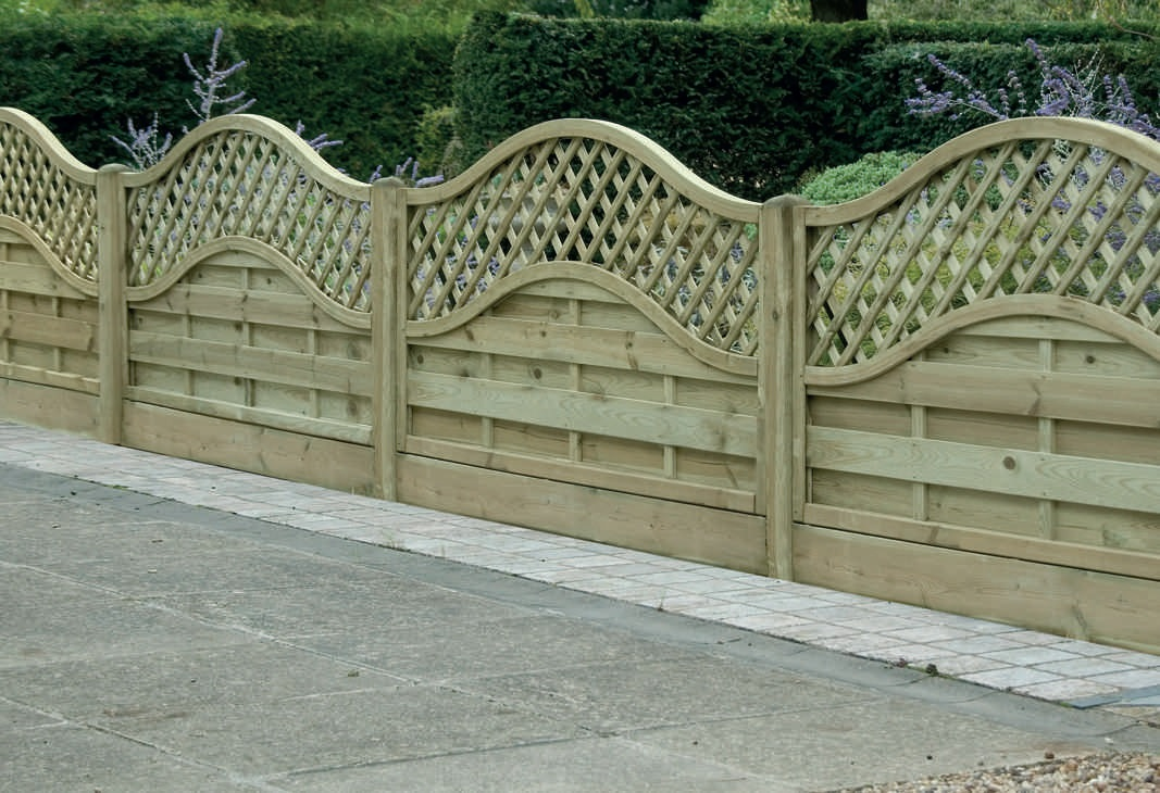 Omega Lattice Top European Panels Fencing
