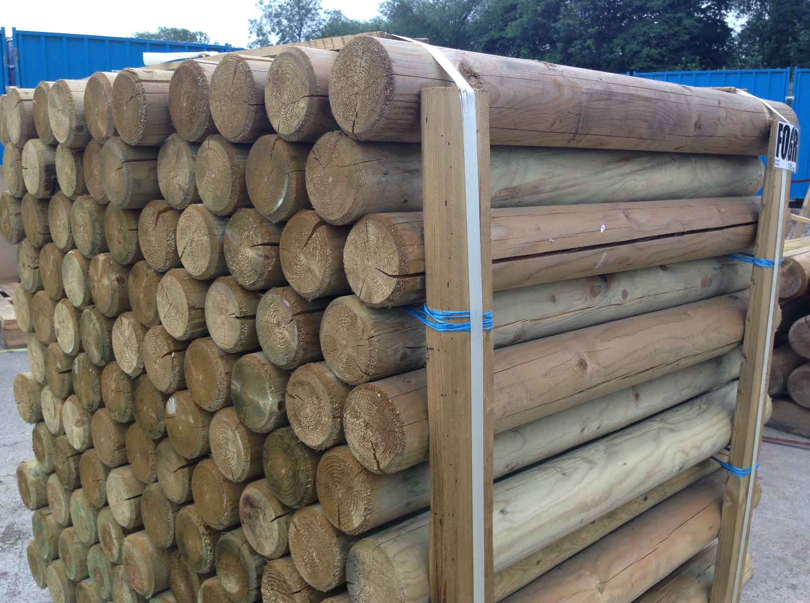 Retaining Wall Posts Round Posts Amp Poles Timber