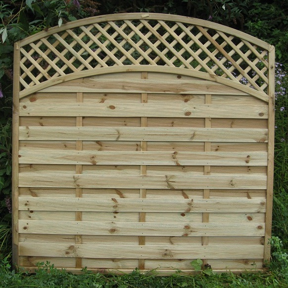Arched Lattice Top Fencing Hillsborough Fencing