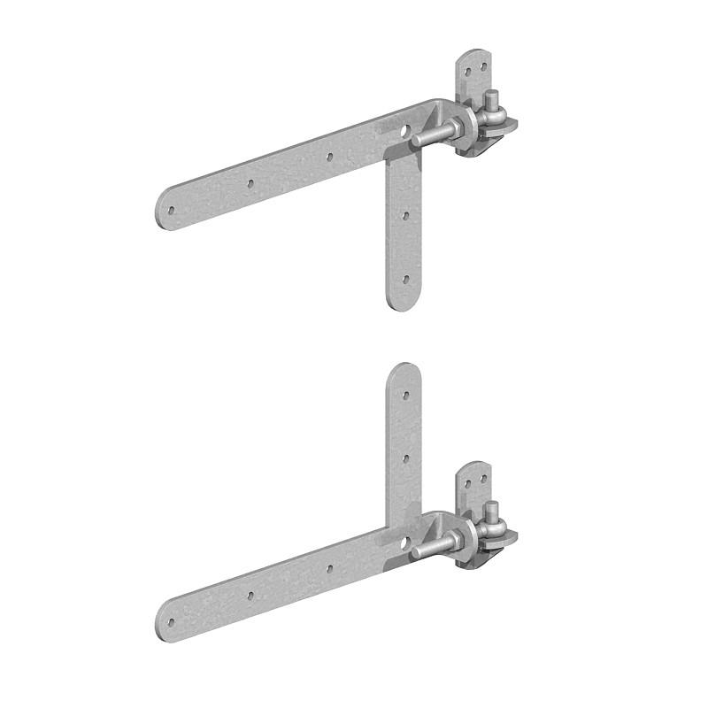 Braced Adjustable Band and Hooks on Plates