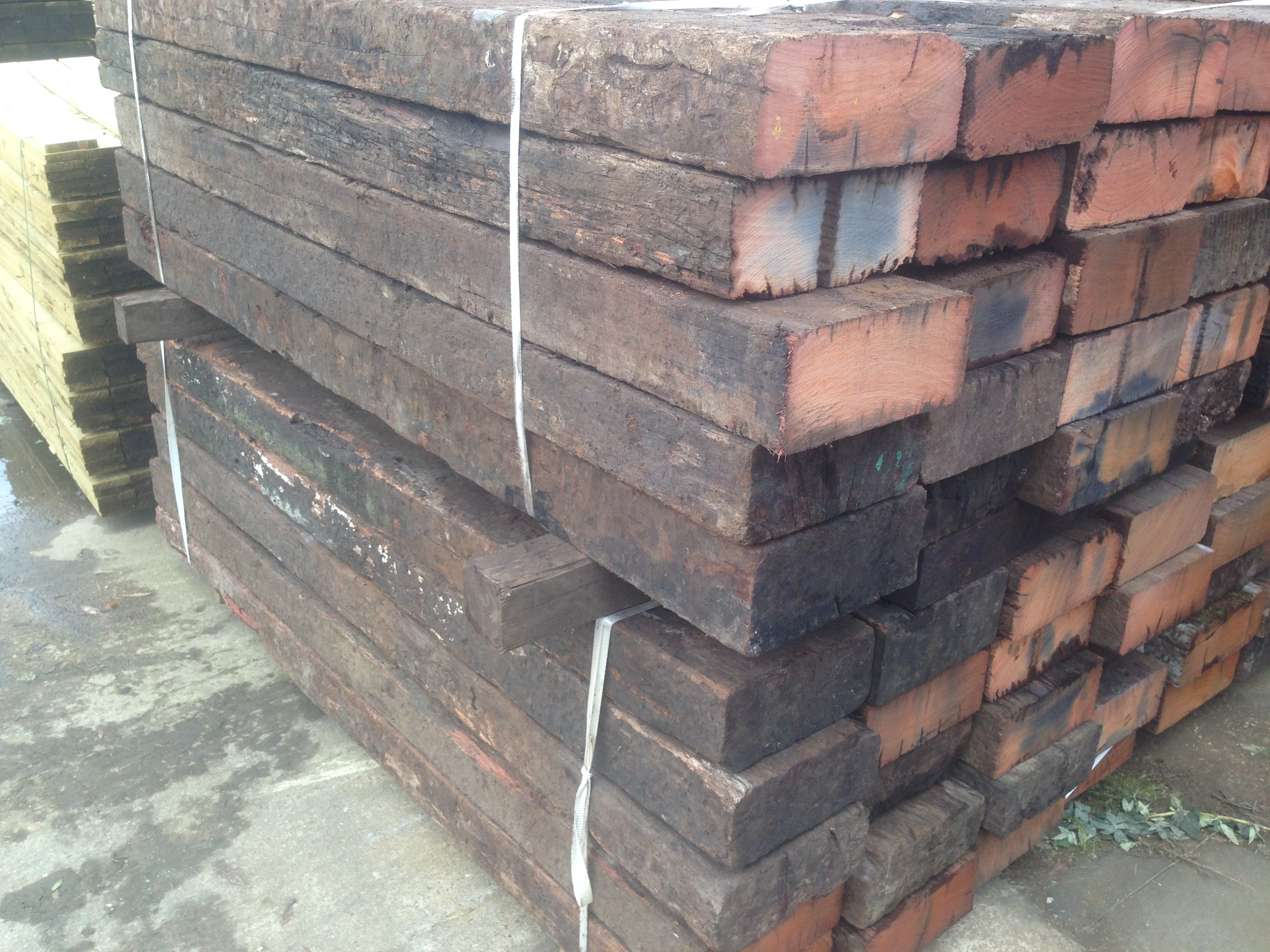 Used Untreated Hardwood Sleepers