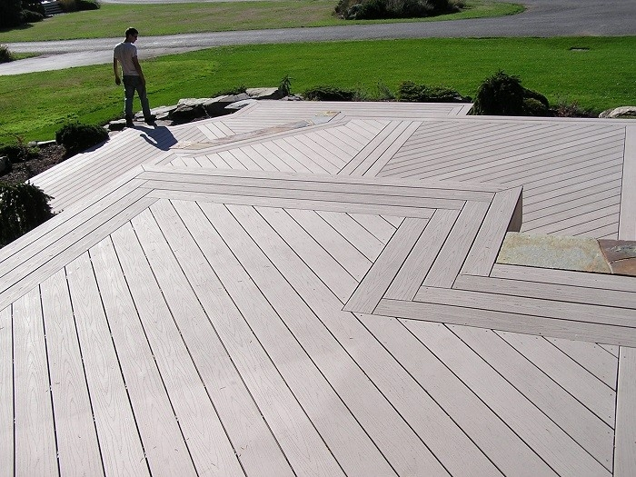 multi-level composite decking