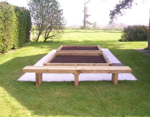 Creating Raised Beds From Railway Sleepers