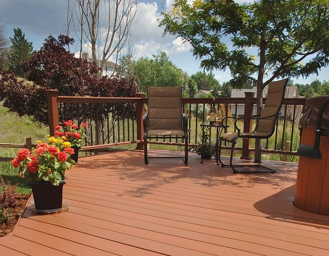 Garden Decking with outdoor seating area