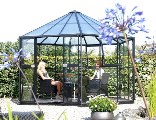 People sit in greenhouse #2