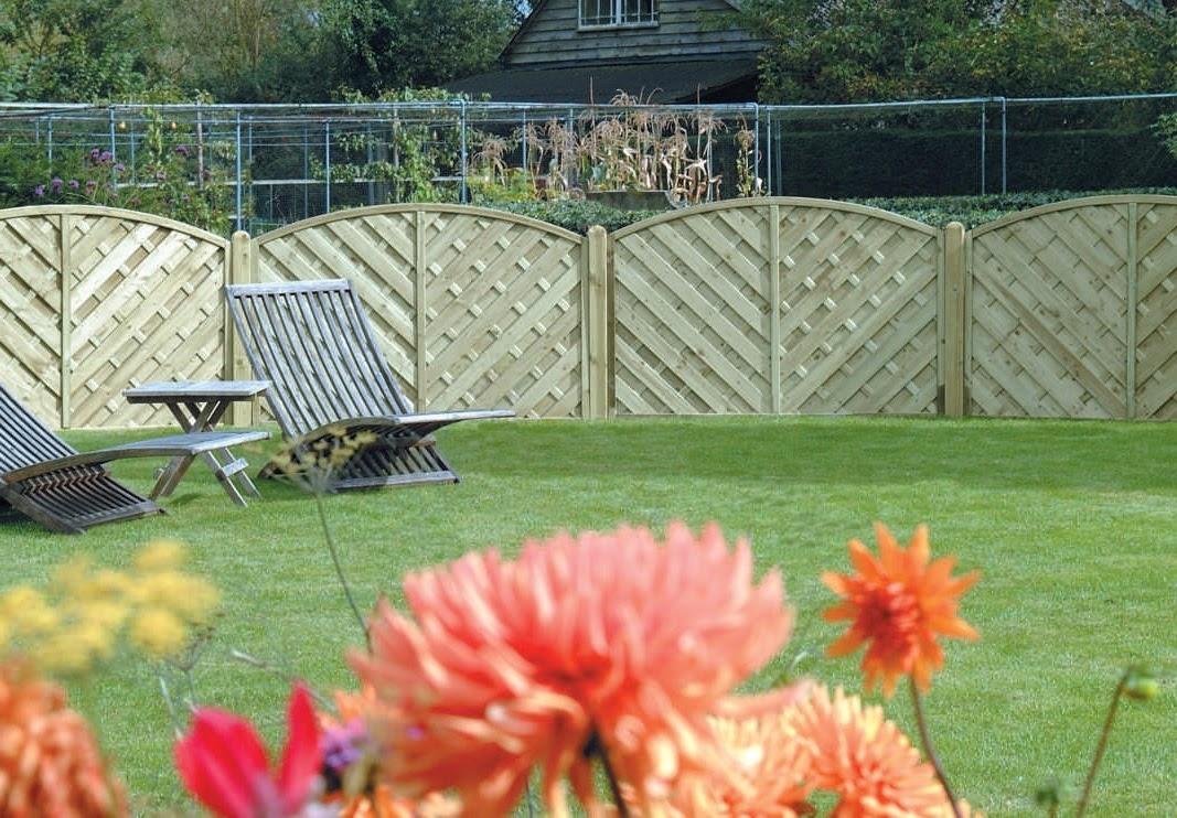 V Shaped Panels in Garden